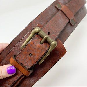 Brave Accessories - Brave   Wide Leather Waist Corset Belt Edgy Boho